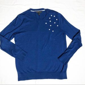 Banana Republic Crew Neck Sweater with stars Med